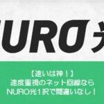 NURO光は速いです